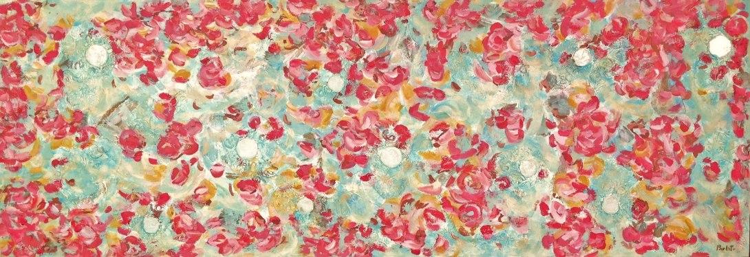 Flores Flotando entre Burbujas de Amor